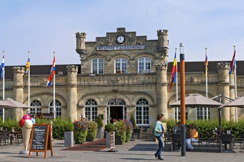 A estação de trem holandesa a mais velha em Valkenburg foto de stock royalty free