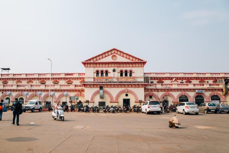 Estação de trem de Jhansi em Jhansi, Índia imagens de stock