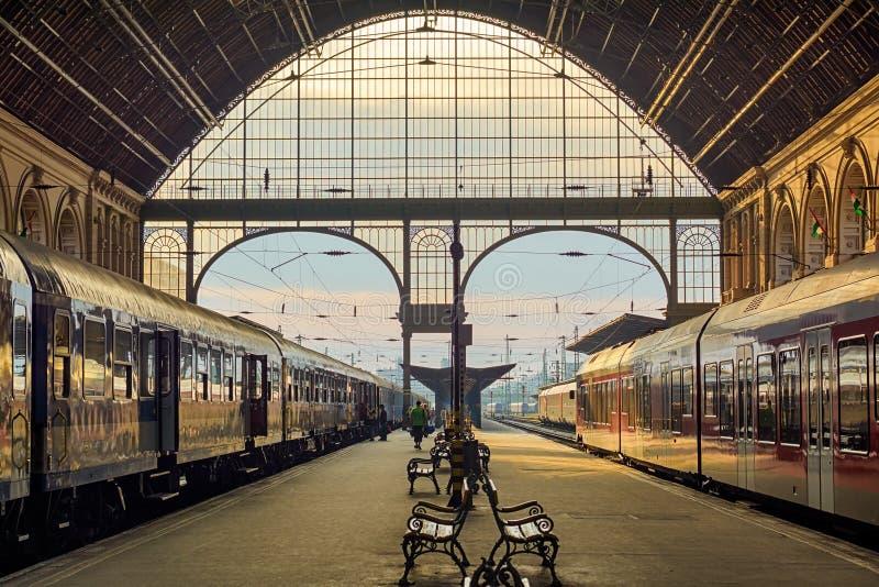 Estação de trem de Keleti em Budapest, interior foto de stock royalty free