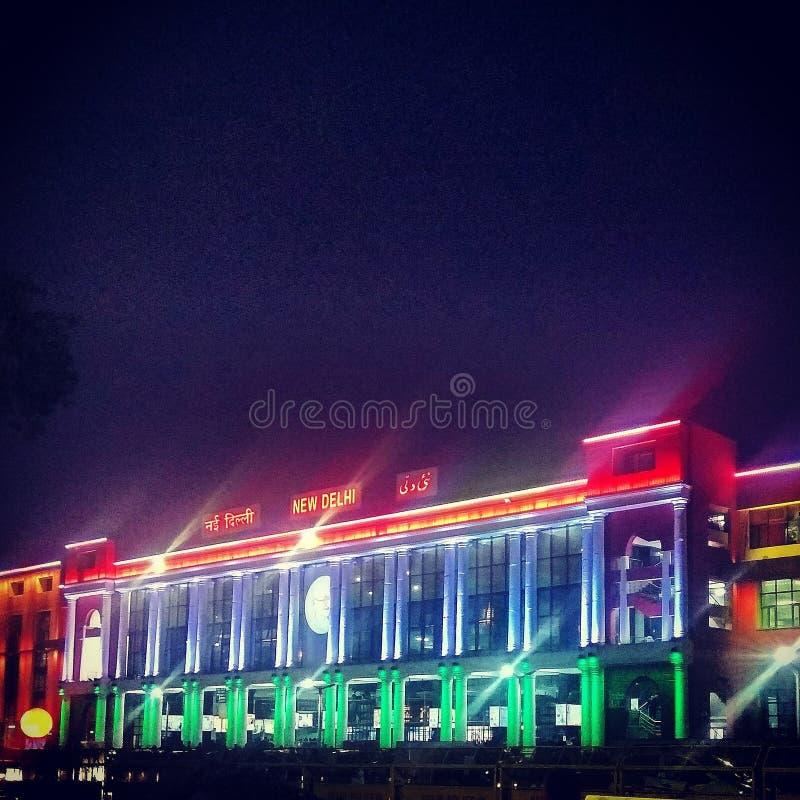 Estação de trem de Nova Deli fotografia de stock