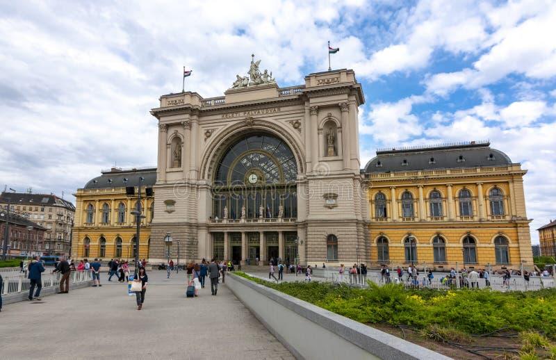 Estação de trem Palyaudvar de Keleti em Budapest, Hungria fotografia de stock