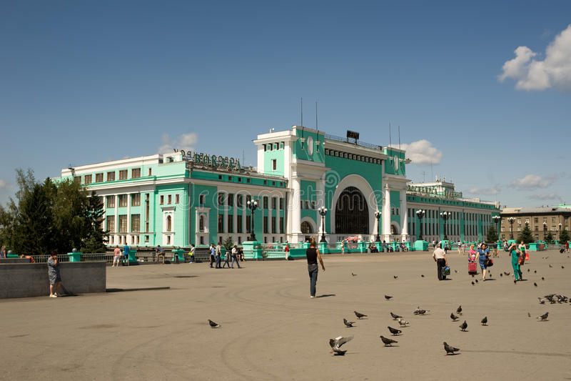Estação de trem principal em Novosibirsk, Rússia foto de stock royalty free