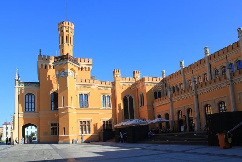 Estação de trem principal em WROCLAW no POLÔNIA, Europa, 12 09 2016 imagem de stock