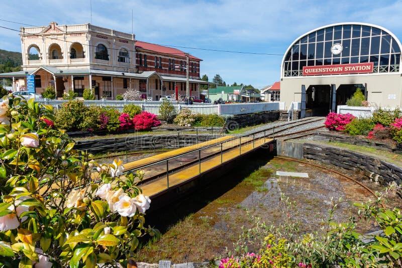 Estação de trem de Queenstown - Tasmânia - Austrália fotografia de stock