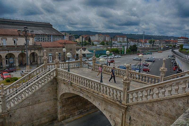Estação de trem, Santiago de Compostela fotos de stock royalty free