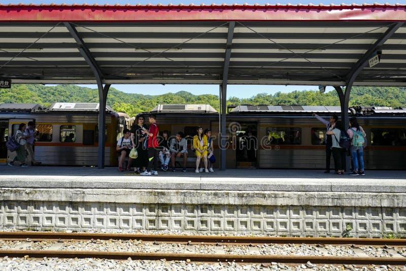 A estação de trem de Shifen, é uma estação de trem situada em Pingxi É ficado situado na linha de Pingxi foto de stock royalty free