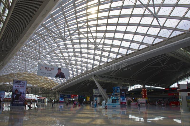 Estação de trem sul de Guangzhou em China fotografia de stock