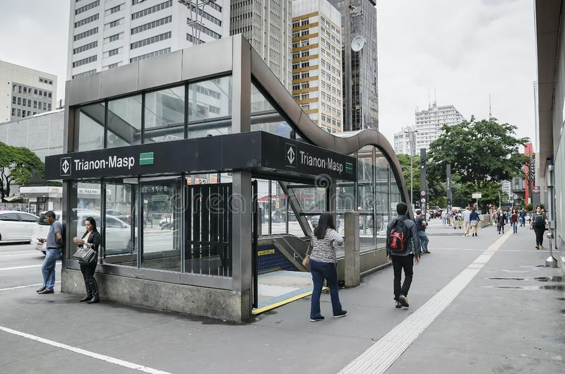 Estação de Trianon-Masp, SP Brasil de Sao Paulo foto de stock royalty free