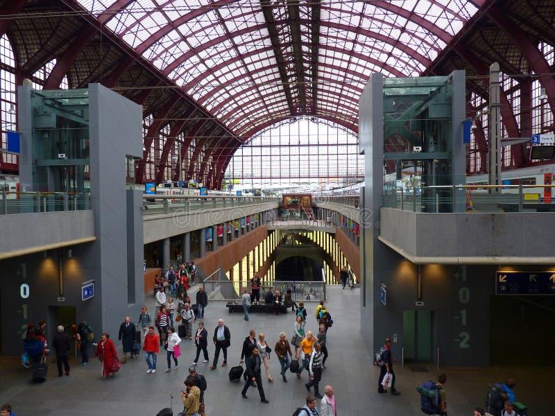 Estação de trilho Antuérpia fotografia de stock royalty free
