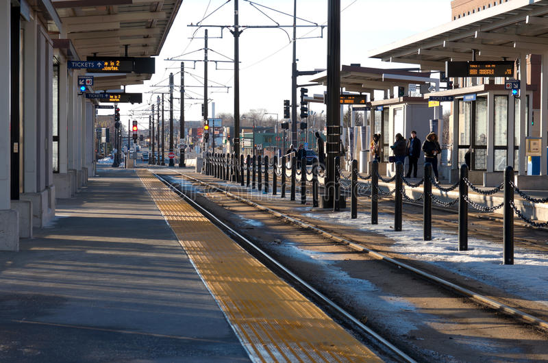 Estação de trilho clara em Saint Paul Minnesota foto de stock
