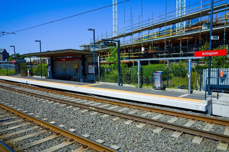 Estação de trilho clara, Sydney, Austrália imagens de stock