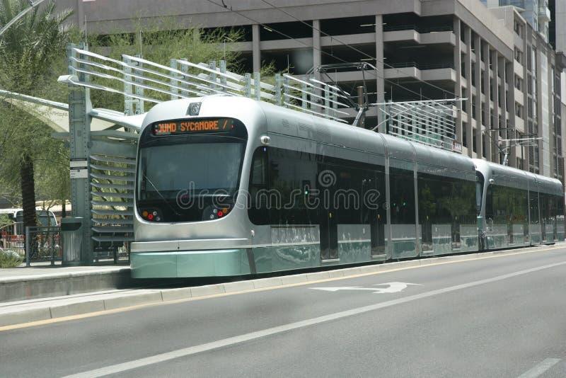 Estação de trilho do metro, Phoenix, AZ fotos de stock royalty free