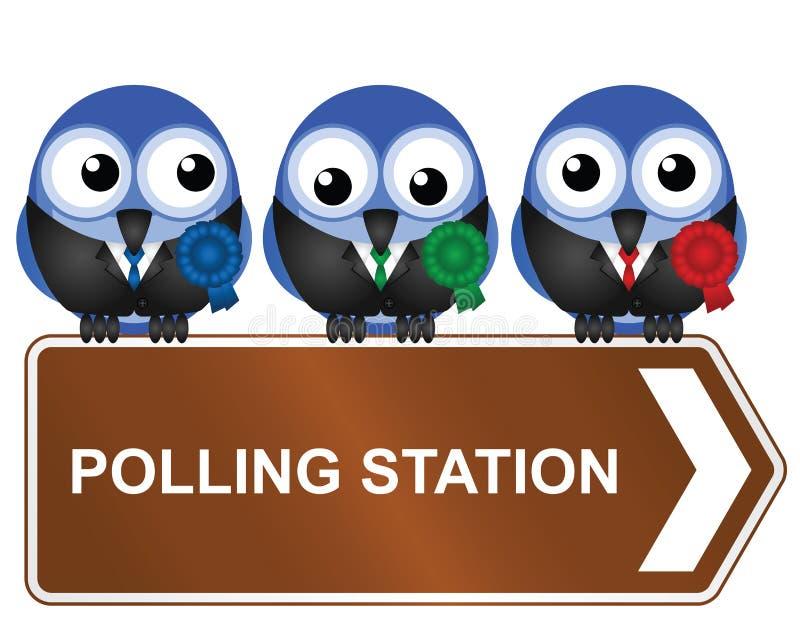 Download Estação de votação ilustração do vetor. Ilustração de ornithology - 26500680