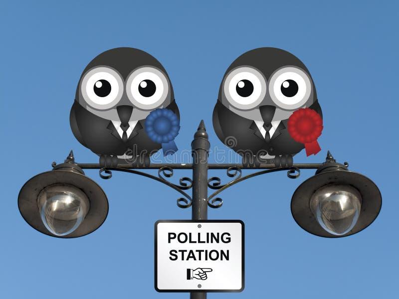 Estação de votação fotografia de stock royalty free