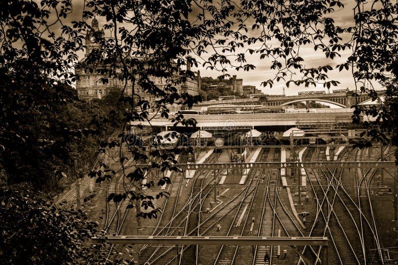 Estação de Waverley - Edimburgo fotos de stock royalty free