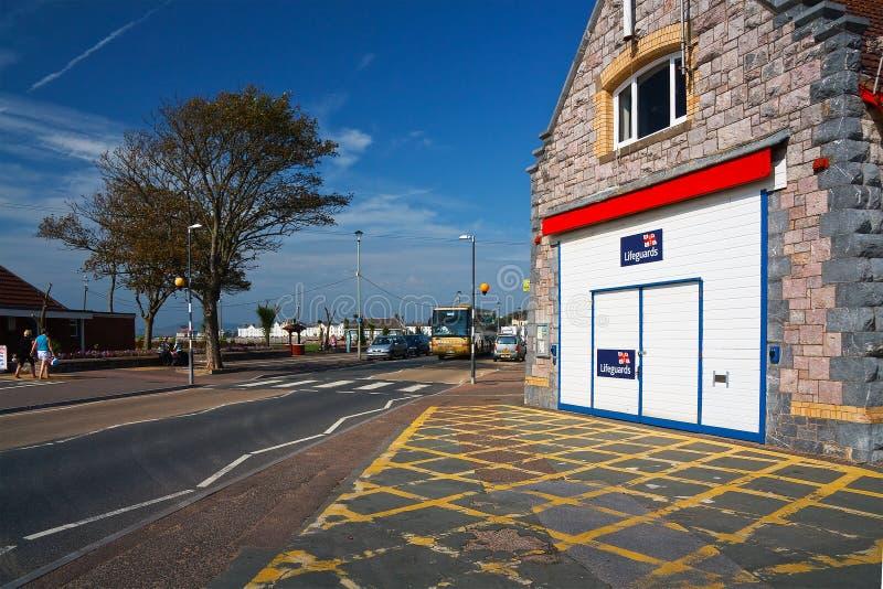 Estação do barco salva-vidas em Exmouth fotografia de stock