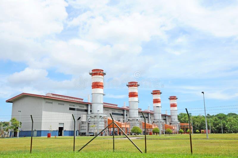 Estação do gerador da energia eléctrica fotos de stock