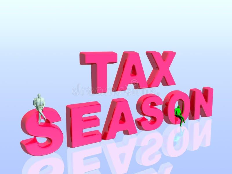 Estação do imposto. ilustração do vetor
