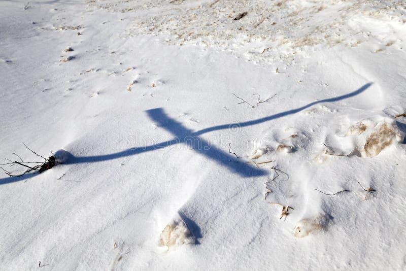 Estação do inverno, a neve fotos de stock