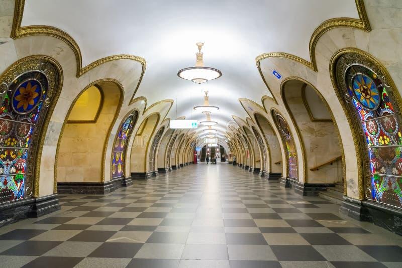 Estação do metro de Moscovo fotografia de stock royalty free