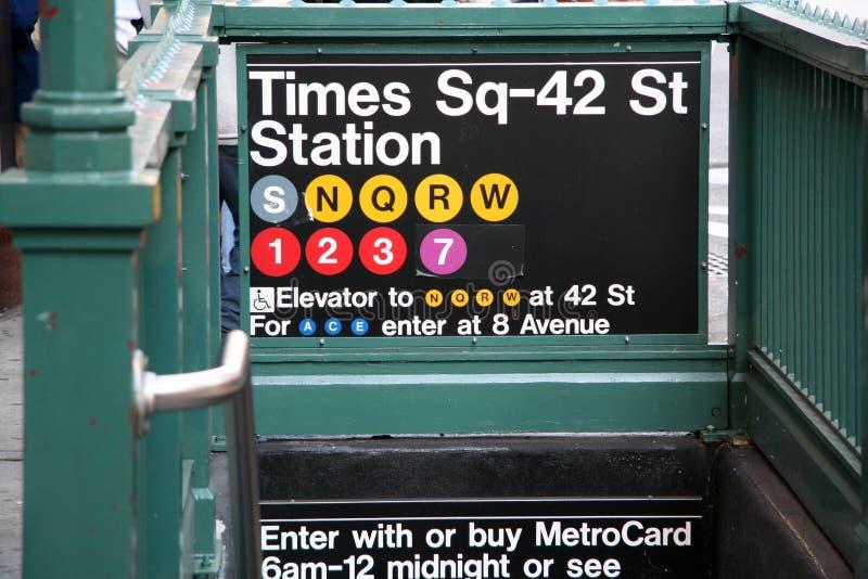 Estação do metro de New York fotografia de stock royalty free