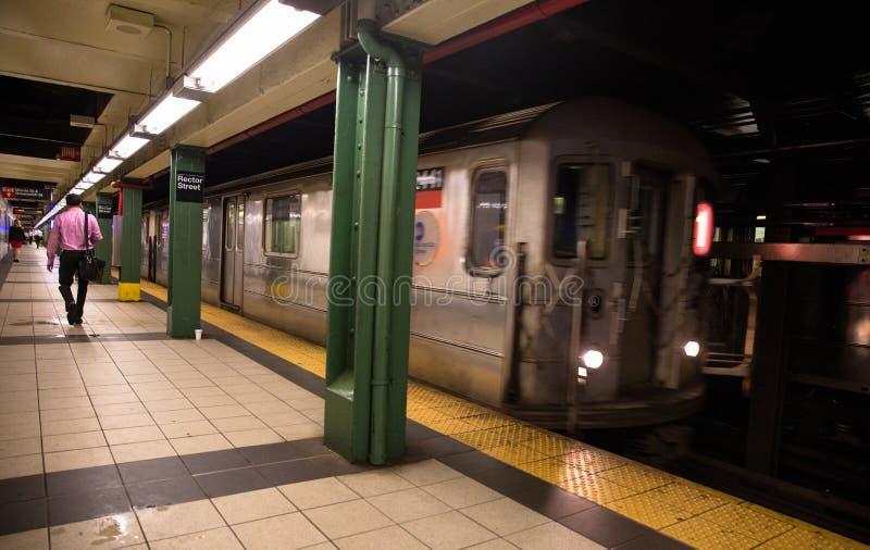 Estação do metro de New York City foto de stock royalty free