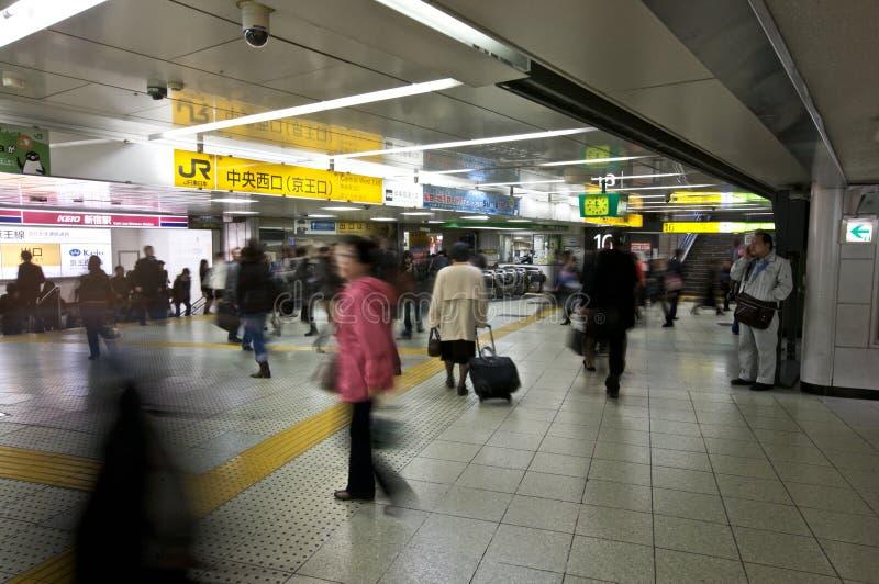 Estação do metro de Shinjuku imagem de stock royalty free