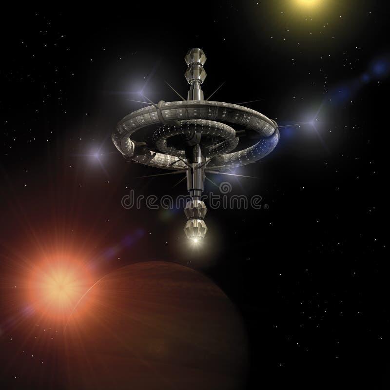 Estação do orbital do espaço ilustração royalty free