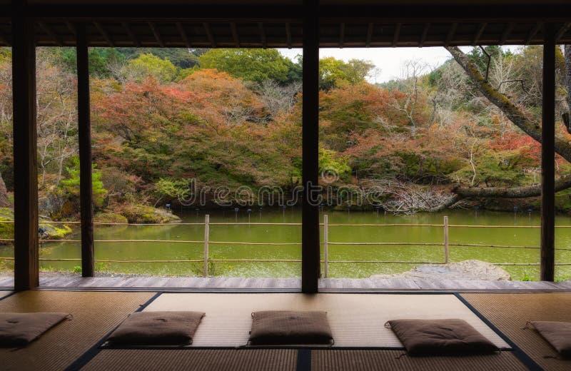 Estação do outono do jardim de Mifuneyama Rakuen na saga, Japão imagem de stock royalty free