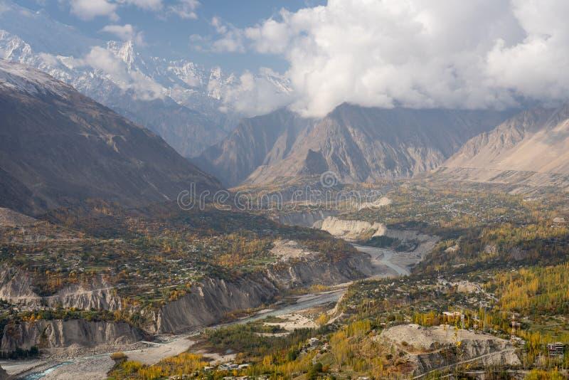 Estação do outono no vale de Hunza, Gilgit Baltistan, Paquistão imagem de stock royalty free