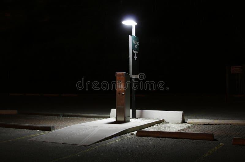 Estação do pagamento do lote de estacionamento no nig fotos de stock royalty free