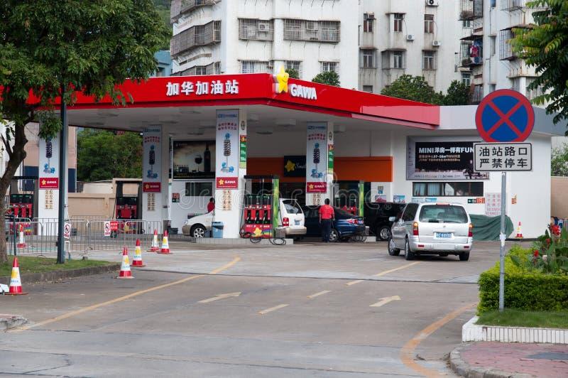 Estação do petróleo imagens de stock
