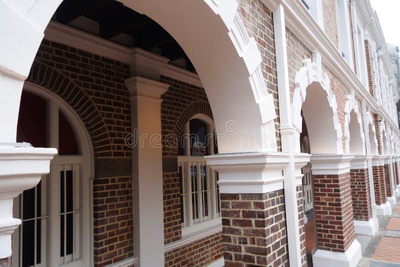 Estação do riquixá que é uma construção histórica em Singapura imagens de stock royalty free
