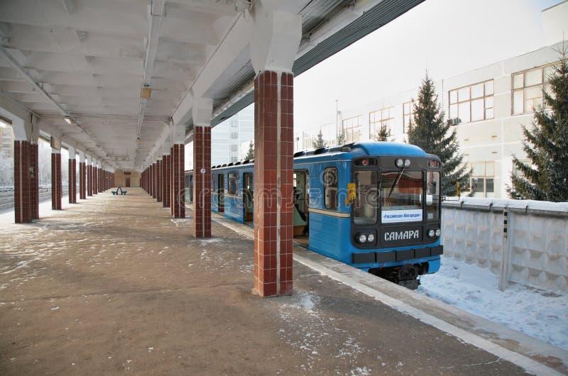 Estação do `s do metro na terra no samara imagem de stock royalty free