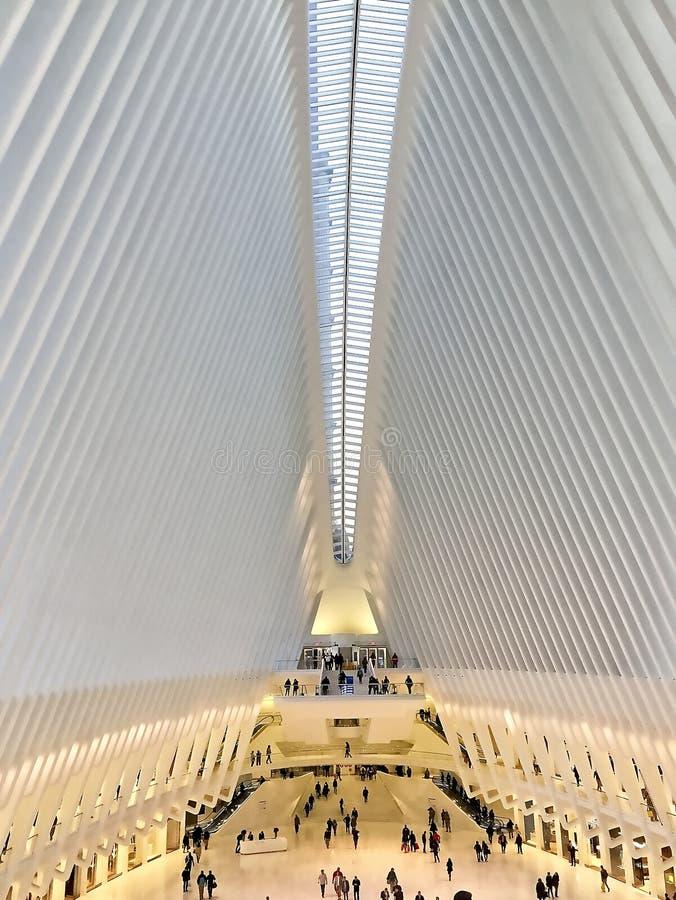 Estação do World Trade Center do ` s de New York fotografia de stock