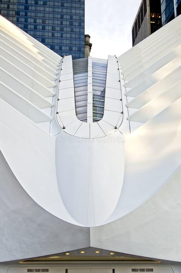 Estação do World Trade Center do ` s de New York fotos de stock
