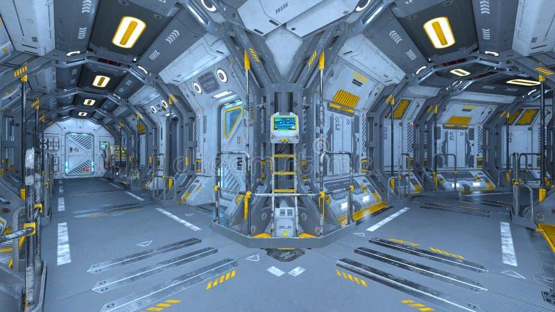 Estação espacial ilustração stock
