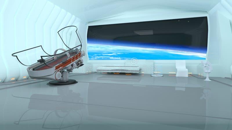 Estação espacial ilustração do vetor