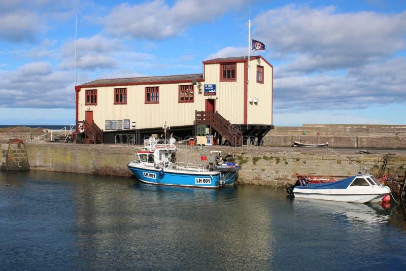 Estação independente do barco salva-vidas do St Abbs, Berwickshire imagem de stock