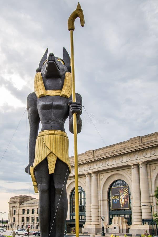 Estação Kansas City Missouri do rei Tut Exhibit Union imagens de stock