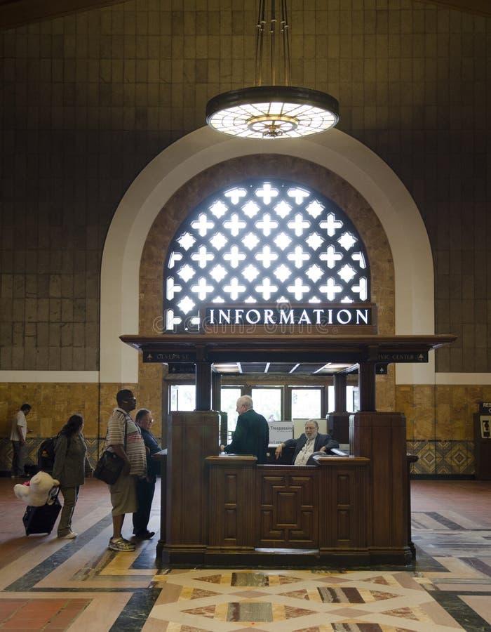 Estação Los Angeles da união da informação foto de stock