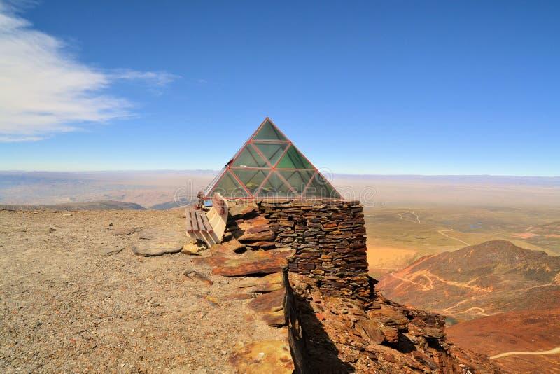 Estação meteorológica em Chacaltaya perto de La Paz, Bolívia fotos de stock