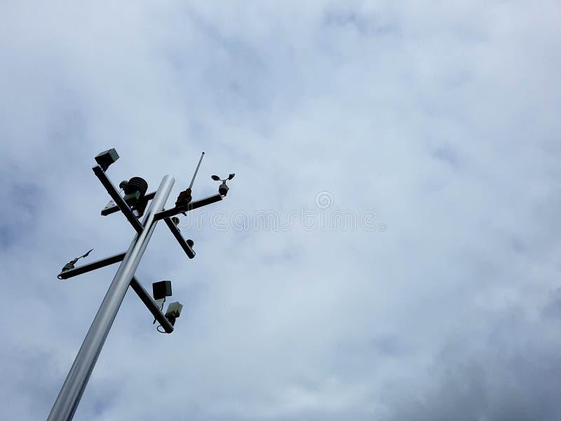 Estação meteorológica pequena fotografia de stock royalty free