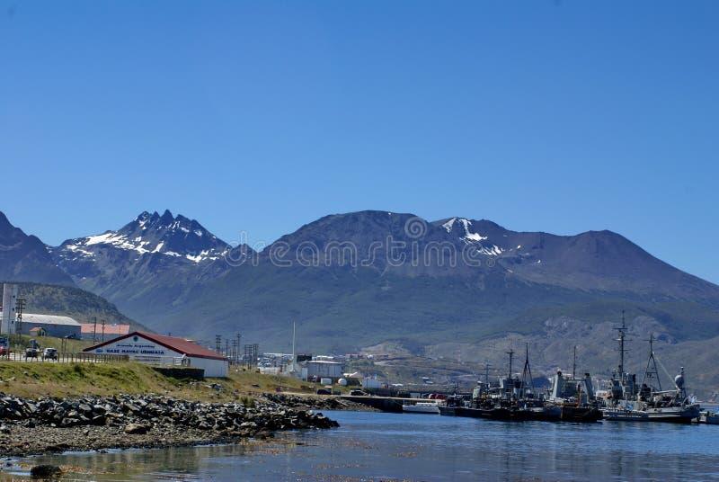 Estação naval de Argentina em Ushuaia, Argentina imagens de stock royalty free