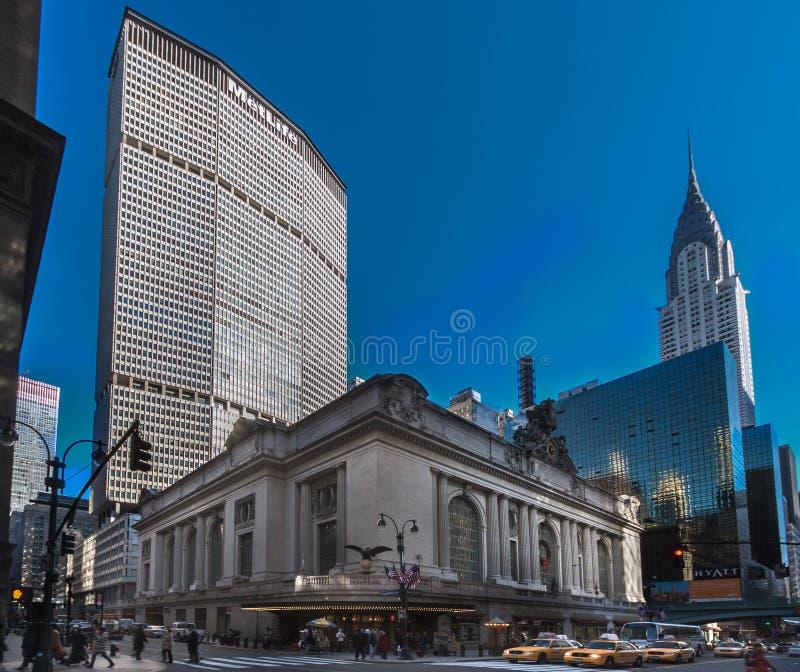 Estação New York de Metlife Chrysler Grand Central foto de stock
