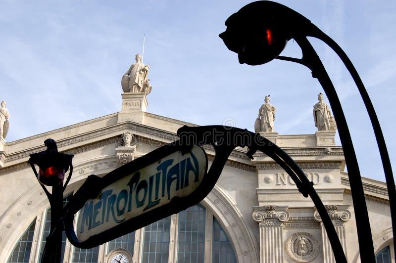 Estação norte de Paris restaurada foto de stock