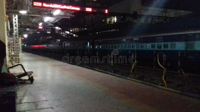 Estação raiway do dhanbad da Índia foto de stock royalty free