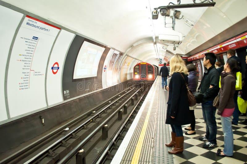 Estação subterrânea de Londres imagem de stock