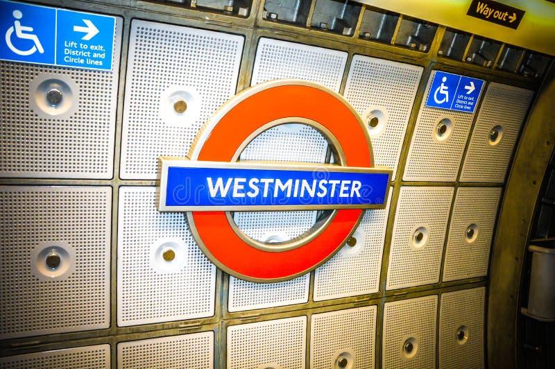 Estação subterrânea de Londres imagens de stock