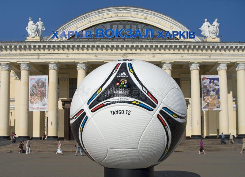 Estação sul terminal em Kharkov, Ucrânia. imagem de stock royalty free